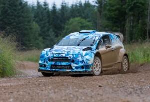 Ford Fiesta RS WRC car testing