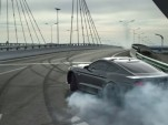 Ford Mustang drifting through abandoned city of Ordos