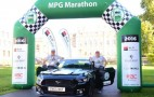 Ford Mustang is unlikely winner of UK gas-mileage marathon