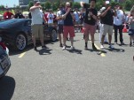 Ford Mustang GT350 and a Lamborghini Cenenario sound off in a rev battle