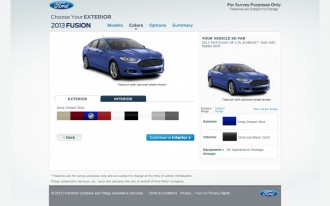 2013 Ford Fusion Configurator Goes Live