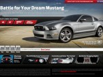 Ford's 2013 Mustang Customizer website