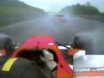 Formula Two Driver Close Call In The Rain At Spa