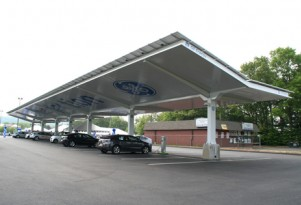 More Sites Install Solar Carports For Electric-Car Charging