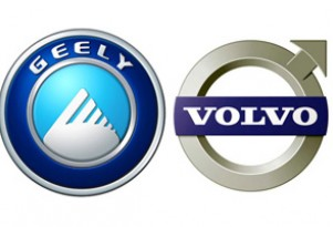 Geely logo and Volvo logo