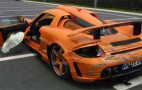 Gemballa GT crashed on circuit in France