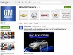 General Motors Google+ Brand Page