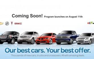 GM's eBay Motors Deal Goes Live Tomorrow