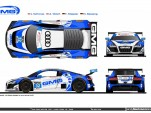 GMG Racing Audi R8 LMS GTD livery for the 2014 Rolex 24 Hours of Daytona