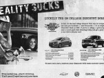 GM's 'Stop pedaling, start driving' ad.