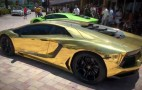 Miami Lamborghini Dealer Unveils Gold-Wrapped Aventador: Video