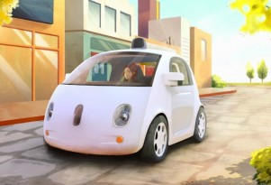 Google's Electric, Autonomous Test Car Looks Happy, Has No Steering Wheel