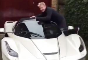 Gordon Ramsay and his Ferrari LaFerrari Aperta