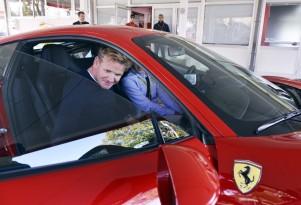 Gordon Ramsay at Ferrari's home in Maranello, Italy