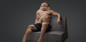 'Graham' - Sculpture that represents a human evolved to survive car crashes