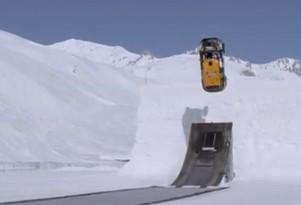 Guerlain Chicherit executes the perfect backflip driving a modified MINI Cooper Countryman