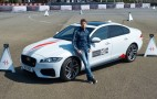 Jaguar challenges fans to beat F1 star Romain Grosjean in an XF