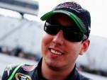 Happy New Hampshire polesitter Kyle Busch - NASCAR photo