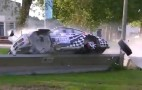 Porsche 911 RSR Driver Gets It Totally Wrong, Flips Over Barrier Into Pond: Video