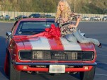 Heidi Montag atop a Camaro