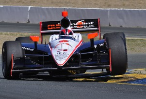 Helio Castroneves in action at Infineon Raceway. Photo: Anne Proffit