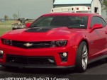Hennessey HPE1000 Camaro ZL1 testing at the drag strip