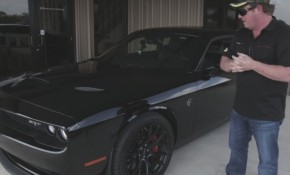 Hennessey tests his 850-horsepower Dodge Challenger Hellcat