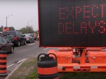 Highway sign: 'Expect delays'