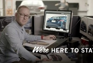 Holden ad featuring alleged design of new Buick four-door coupe