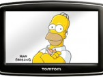 Homer Simpson on TomTom