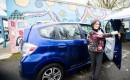 Honda Fit EV at launch, Northeast Portland community electric car sharing program  [PhotosByKim LLC]