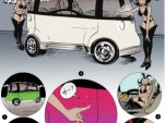 Honda Puyo concept illustrated by Paul Pope for GQ