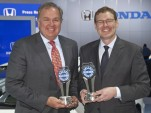 Honda's John Mendel (left) & KBB's Jared Rowe at the 2012 Kelley Blue Book Brand Image Awards