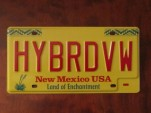 """Hybrid VW"" license plate from 2013 Volkswagen Jetta Hybrid drive event"