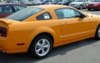 Grabber Orange Mustang  Shows  It's Face