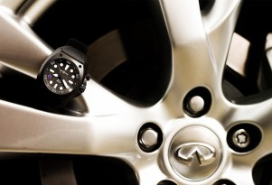 The Bell &amp; Ross BR02-8 Infiniti Carbon Case 8 Pro Dial. Image: Infiniti