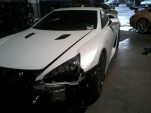 Images of a 2012 Lexus LFA involved in a crash
