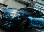 IMW8NG4U 3D-wrapped Nissan GT-R