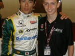 Indy car driver Takuma Sato and Zach Veach - Photo courtesy www.zachveach.com