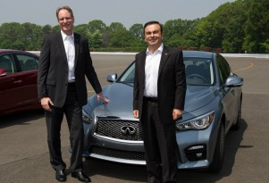 Infiniti chief Johan de Nysschen (left) with Renault Nissan CEO Carlos Ghosn