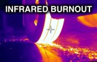See how hot a burnout gets through a thermal camera