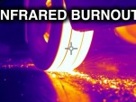 Infrared view of a burnout with a Honda S2000