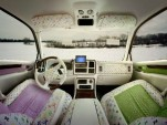 Interior of Cadillac Escalade in faux Murakami fabric (photo by Luis Gispert)