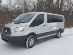 Electric Ford Transit van conversion shown by Inventev at Detroit Auto Show