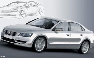 Unofficial Preview Rendering Of Volksagen's New Midsize Sedan