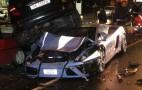 Italian Police Crash Lamborghini Gallardo Patrol Car