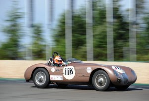 Jaguar C-Type runs at the Oldtimer Grand Prix - image: Jaguar