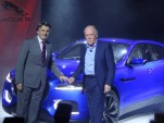 Jaguar Land Rover CEO Ralph Speth (left) and head designer Ian Callum