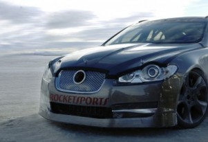 Video: Jag XFR Screams Across Bonneville at 225 mph