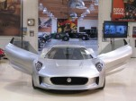 Jaguar C-X75 concept car, Jay Leno's Garage, Burbank, CA, before 2010 Los Angeles Auto Show